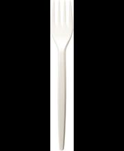 Ühekordsed kahvlid 25 tk, valge plast
