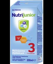 Nutrijunior 3 jätkupiimajook 200 ml, alates 1-eluaastast