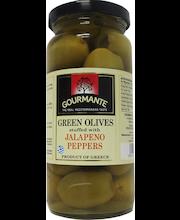 Rohelised oliivid jalapenotäidisega 227/127 g