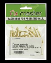 Fixmaster puidukruvi, peitpea, 4,5 x 40 mm, 25 tk