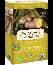 Roheline tee kofeiinivaba, ingver ja sidrunhein 16 x 2 g, Org...