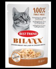 Best Friend Bilanx täissööt kassidele kanapuljongis kanarinna...