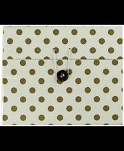 Karp 18 x 18 x 15 cm, valge/kuldne