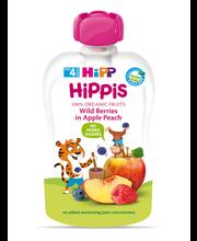 Hipp Hippis õuna-virsiku-metsamarjapüree 100 g, öko, alates 4...