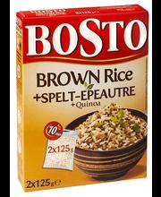 Bosto Pruun riis, spelta, quinoa 2x125 g