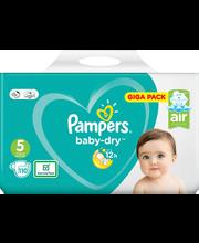 Pampers teipmähkmed Baby Dry 5, 11-16kg, 110 tk