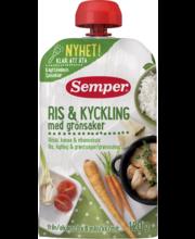 Semper riis kana ja juurviljadega 120 g, alates 6-elukuust