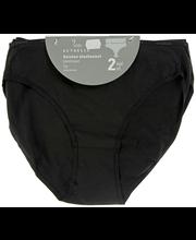 Naiste aluspüksid Basic 2 paari must, M