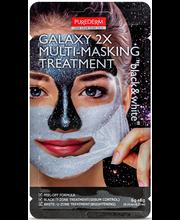 Näomask Galaxy 2x multi-masking black&white