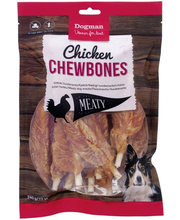 Dogman Chicken Chewbones kanamaius koertele, 12 tk, 240 g