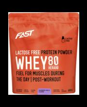 Proteiinijoogipulber Whey 80 mustika- vanilli, 0,6 kg