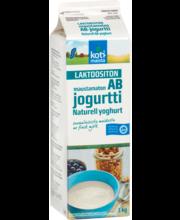AB laktoosivaba jogurt, maitsemata, 1 kg