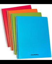 Spiraalkaustik A5/60 lehte plastkkaaned, ruuduline