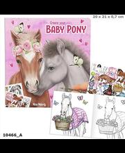 Miss Melody Värvimisraamat kleebistega Baby Pony