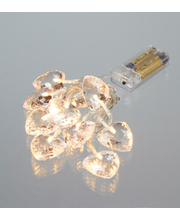 Sisevalgustisari Crystal Heart 10LED ( patareid 2x AA-ei sisa...