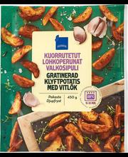 Küüslauguga kartulisektorid, 450 g