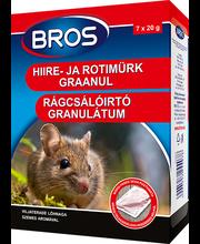 Bros hiire- ja rotimürk graanulid 140 g