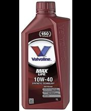 Mootoriõli Valvoline Maxlife 10W-40 1 l, täissünteetiline