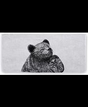 Froteerätik Karu ja Siil 70x150 cm, mustvalge