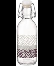 Klaaspudel Emilia 0,5 l lilla