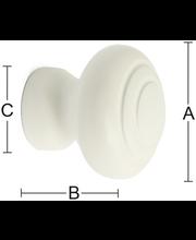 Habo Frank mööblinupp, 39 mm, valge