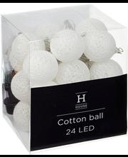 Valguskett Cottonball 24LED IP44, valge, välis