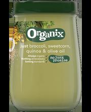 Organix brokoli-maisi-kinoa püree 190 g, alates 6-elukuust