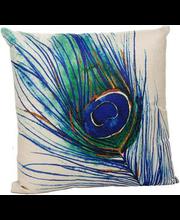 Dekoratiivpadi Peacock 45 x 45 cm, must, 100% polüester