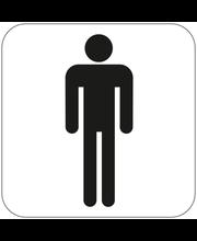 Habo meeste tualettruumi silt, 80 x 80 mm