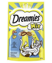 Dreamies Mix lõhe- ja juustumaius kassidele, 60 g