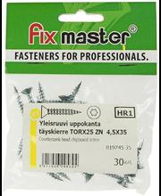 Fixmaster universaalkruvi, peitpea, TX25 ZN, 4,5 x 35 mm, 30 tk