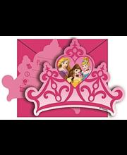 Kutsekaardid Disney Princess, 6 tk