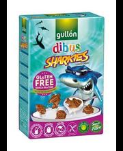 Gullon Dibus hommikusöögikrõbinad Sharkies 250 g, gluteenivaba