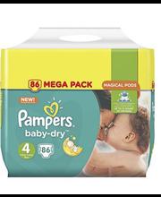 Pampers teipmähkmed Baby Dry 4 Mega Pack, 9–14 kg, 86 tk