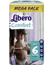 Libero teipmähkmed Comfort 6 Mega Pack, 13-20 kg, 72 tk