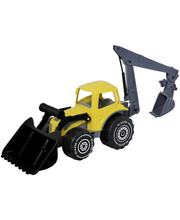 Plasto traktor 70 cm, kollane