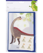 Kinkekotid Riethmüller Dinosaurus, 4 tk