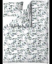 Voodipesukomplekt Latvus 150x210/50x60 cm valge/roheline 100%...