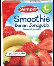 Semper smuuti banaani-maasika 200 ml, alates 12-elukuust