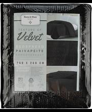 Päevatekk Velvet 260X260 cm, must
