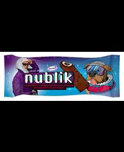 Nublik vanilli koorejäätis piimašokolaaditäidisega jašokolaadiküpsisetükkidega glasuuris, 64g