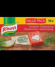 Knorr lihapuljongi kuubikud, 18 x 10 g