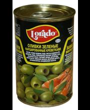 Rohelised oliivid krevettidega 120 g