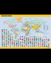 """Lauamatt """"Maailma riigid"""" 40x60 cm, eestikeelne"""