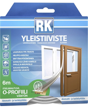 RK akna- ja uksetihend, O-profiil, TPE, 6 m, hele