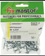 Fixmaster plekikruvi KFR puurotsaga, 4,2 x 25 mm, 50 tk