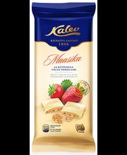 Kalev valge šokolaad maasika ja küpsisetükkidega 100 g