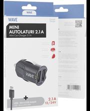 Autolaadija 2.1A 2 x USB Micro USB