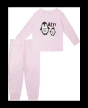 Laste pidžaama 2-pakk heleroosa/roosa, 100 cm