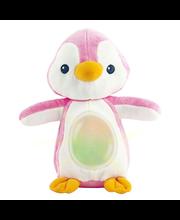 Pingviin heli ja valgusega, sinine/roosa